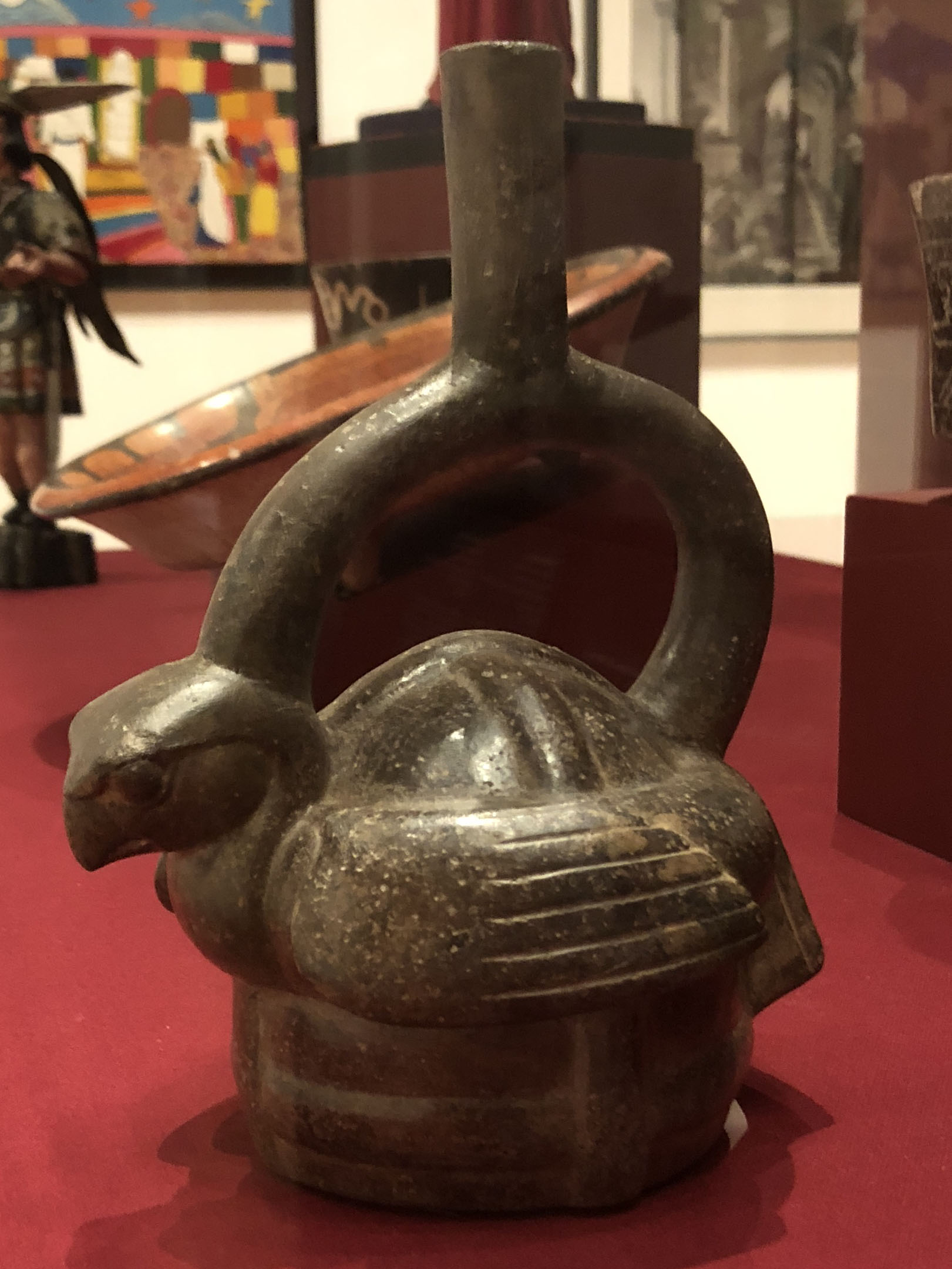 Artist Unknown, Stirrup Spout Vessel of Seated Hawk